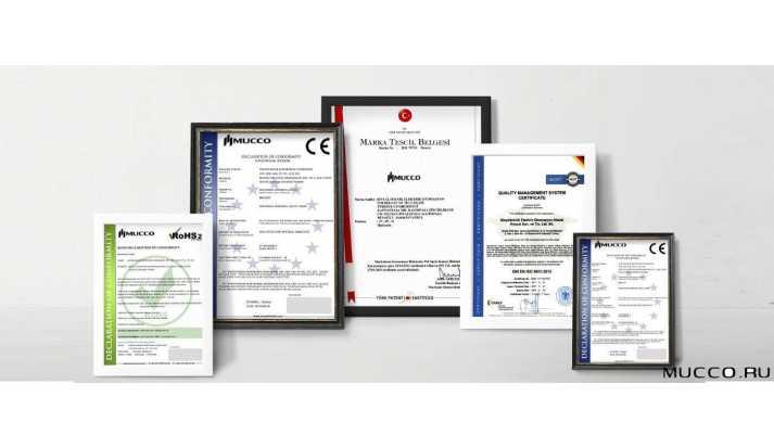 Сертификаты MUCCO