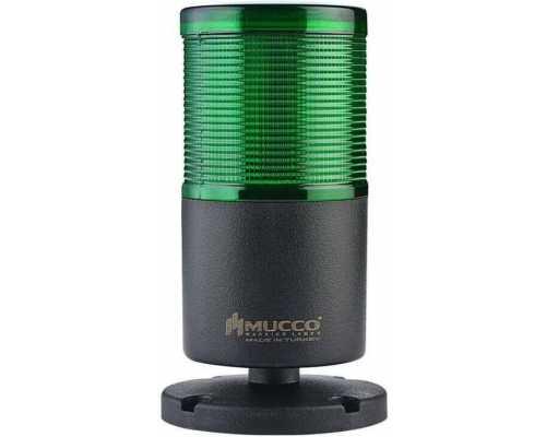 Однослойная светодиодная колонна, вращающаяся с зуммером, 12-24VAC/DC, цвет зеленый