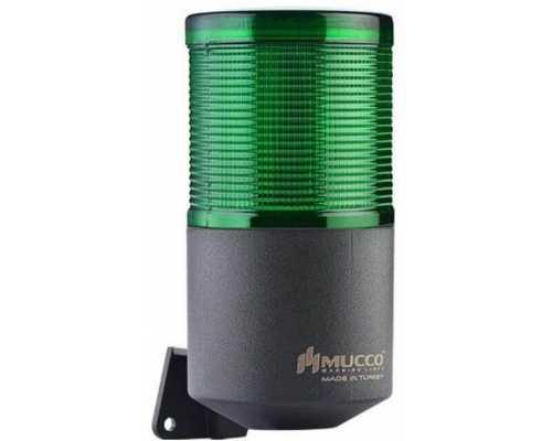 Однослойный светодиодный гудок, вращающийся с зуммером, 12-24VAC/DC, цвет зеленый
