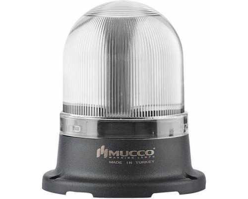 Сигнальный маячок серии 100, стробоскопический с 5 режимами и с зуммером, 12-24V AC/DC, цвет Белый