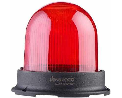Сигнальный маячок серии 125, стробоскопический 3 режимами , 85-260V AC/DC, цвет Красный