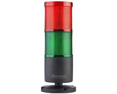 Двухслойная светодиодная колонна, вращающаяся с зуммером, 12-24VAC/DC, цвет зеленый