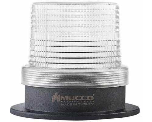Универсальный сигнальный маячок, стробоскопический с 5 режимами и с зуммером, 12-24VAC/DC, цвет белый