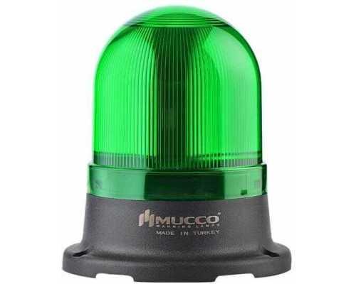 Мини сигнальный маячок, вращающийся с зуммером, 24V/DC, цвет Зеленый