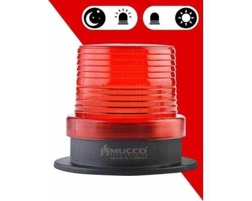 Сигнальный маячок с сенсорным датчиком, 10 Вт с солнечной панелью, цвет Красный