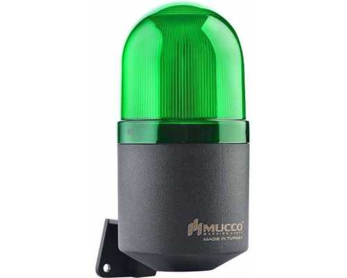 Светосигнальный гудок, фиксированный, мигающий, стробоскопический или вращающийся, 48V/DC, цвет зеленый
