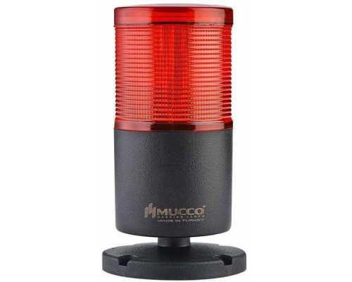 Однослойная светосигнальная колонна, вращающаяся с зуммером, 12-24VAC/DC, цвет Красный