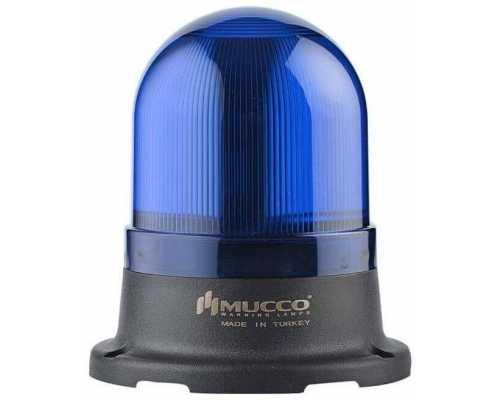 Сигнальный маячок серии 100, стробоскопический с 5 режимами и с зуммером, 12-24V AC/DC, цвет Синий