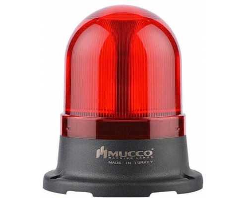 Мини сигнальный маячок, вращающийся с зуммером, 24V/DC, цвет Красный