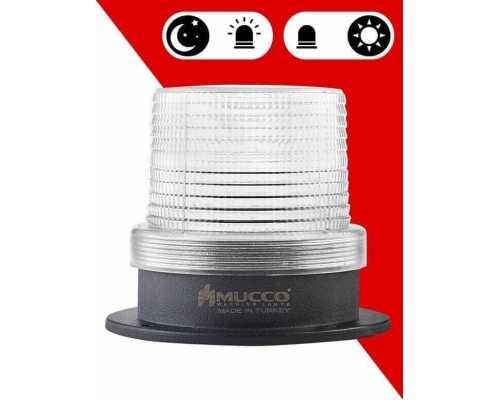 Сигнальный маячок с сенсорным датчиком, с 4 режимами и зуммером, 12-24VAC/DC, цвет белый