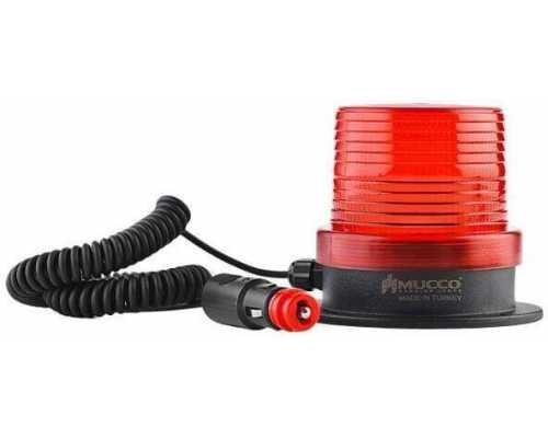 Магнитный маяк (мигалка) с разъемом для прикуривателя, 12-24VAC/DC, цвет красный