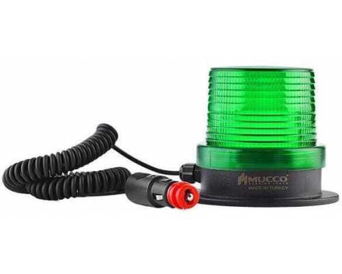 Магнитный маяк (мигалка) с разъемом для прикуривателя, 12-24VAC/DC, цвет зеленый