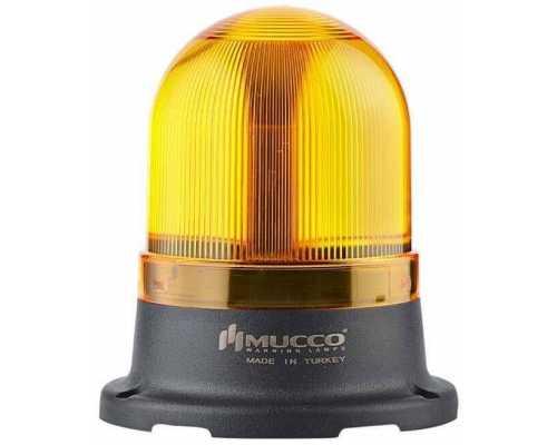 Сигнальный маячок серии 100, стробоскопический с 5 режимами и с зуммером, 12-24V AC/DC, цвет Желтый