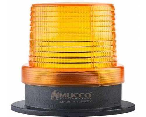 Универсальный сигнальный маячок, стробоскопический с 5 режимами и с зуммером, 12-24VAC/DC, цвет желтый
