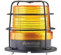 Универсальный сигнальный маячок, стробоскопический с 5 режимами и с защитной решеткой, 12-24VAC/DC, цвет желтый