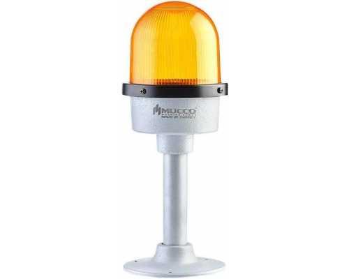 Промышленная сигнальная лампа, стробоскопическая с литым корпусом, 12-24VAC/DC, цвет желтый