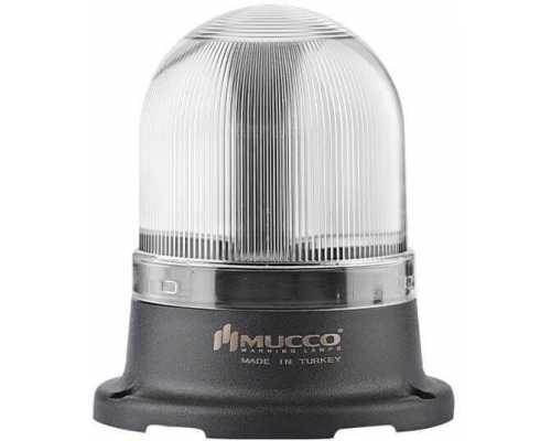 Мини сигнальный маячок, вращающийся с зуммером, 220V/AC, цвет Белый