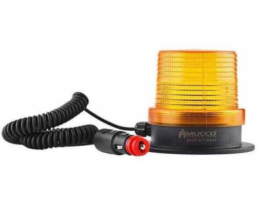 Магнитный маяк (мигалка) с разъемом для прикуривателя, 12-24VAC/DC, цвет желтый