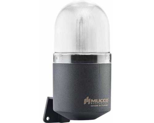 Светосигнальный гудок, фиксированный, мигающий, стробоскопический или вращающийся, 12-24V AC/DC, цвет белый