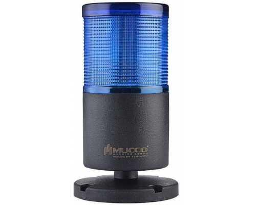 Однослойная светодиодная колонна, вращающаяся с зуммером, 220V/AC, цвет синий