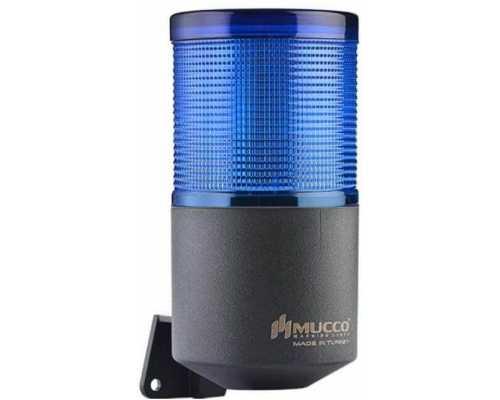 Однослойный светосигнальный гудок, вращающийся с зуммером, 40-260VAC/DC, цвет Синий