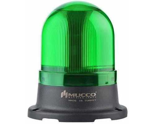 Сигнальный маячок серии 100, стробоскопический с 5 режимами и с зуммером, 12-24V AC/DC, цвет Зеленый