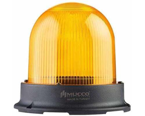 Сигнальный маячок серии 125, стробоскопический 3 режимами , 12-24V AC/DC, цвет Желтый