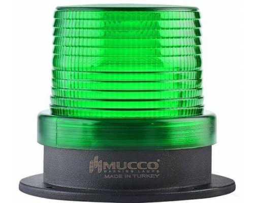 Универсальный сигнальный маяк, стробоскопический с 5 режимами и зуммером, 12-24VAC/DC, цвет зеленый
