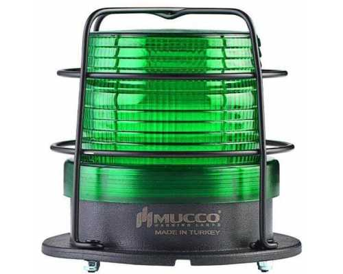 Универсальный сигнальный маячок, стробоскопический с 5 режимами и с защитной решеткой, 12-24VAC/DC, цвет зеленый