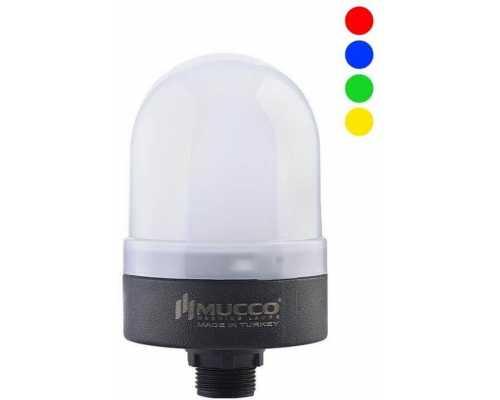 Сигнальная лампа RGB, фиксированная, мигающая, стробоскопическая или вращающаяся, 12V-24V/DC, цвет Синий