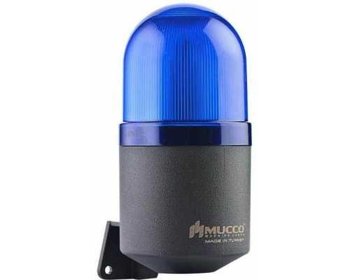 Светосигнальный гудок, фиксированный, мигающий, стробоскопический или вращающийся, 12-24V AC/DC, цвет синий