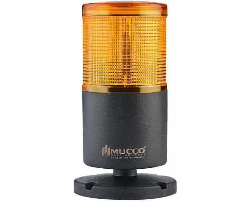 Однослойная светодиодная колонна, вращающаяся с зуммером, 220V/AC, цвет желтый
