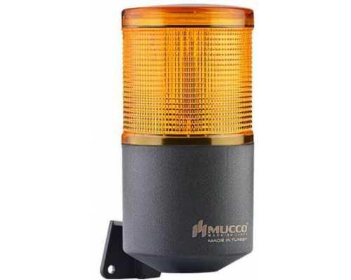 Однослойный светосигнальный гудок, вращающийся с зуммером, 40-260VAC/DC, цвет Желтый