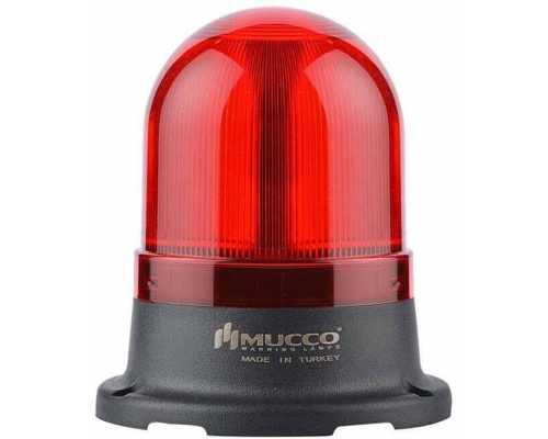 Сигнальный маячок серии 100, стробоскопический с 5 режимами и с зуммером, 12-24V AC/DC, цвет Красный