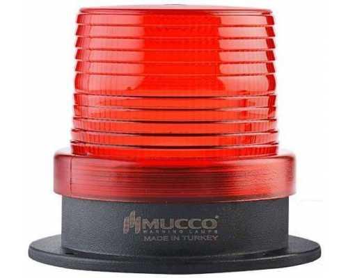 Универсальный сигнальный маяк, стробоскопический с 5 режимами и зуммером, 12-24VAC/DC, цвет красный