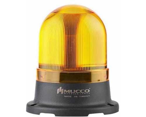 Мини сигнальный маячок, вращающийся с зуммером, 220V/AC, цвет Желтый