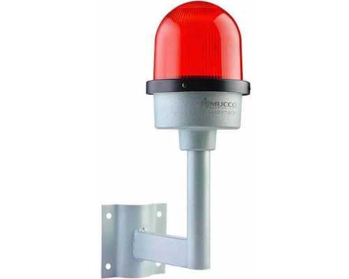Заградительные огни настенного монтажа, 24V/DC, цвет красный