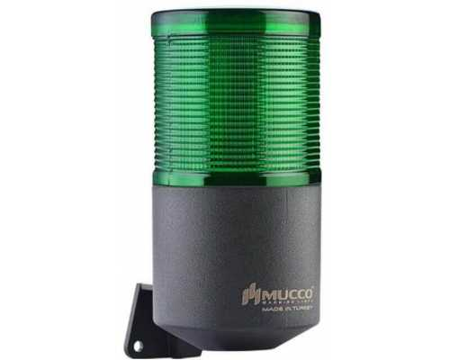 Однослойный светосигнальный гудок, вращающийся с зуммером, 40-260VAC/DC, цвет Зеленый