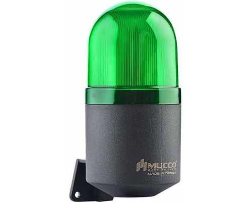 Светосигнальный гудок, фиксированный, мигающий, стробоскопический или вращающийся, 12-24V AC/DC, цвет зеленый