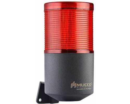 Однослойный светодиодный гудок, вращающийся с зуммером, 40-260VAC/DC, цвет красный