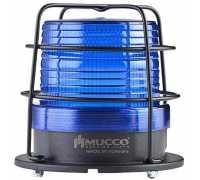 Универсальный сигнальный маяк, стробоскопический с 5 режимами и с защитной решеткой, 85-260VAC/DC, цвет синий