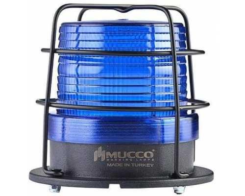 Универсальный сигнальный маячок, стробоскопический с 5 режимами и с защитной решеткой, 85-260VAC/DC, цвет синий