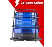Сигнальный маячок Макси-Вольт, стробоскопический с зуммером, 24-90V/DC - 24-60V/AC, цвет синий