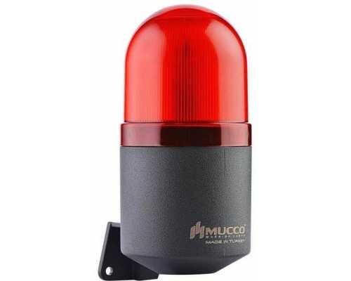 Светосигнальный гудок, фиксированный, мигающий, стробоскопический или вращающийся, 12-24V AC/DC, цвет красный