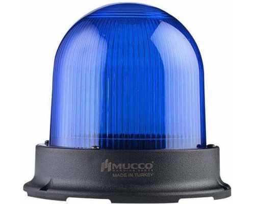 Сигнальный маячок серии 125, стробоскопический 3 режимами , 85-260V AC/DC, цвет Синий