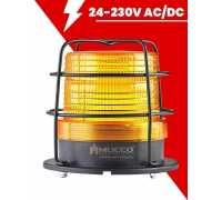 Сигнальный маячок Макси-Вольт, стробоскопический с зуммером, 24-90V/DC - 24-60V/AC, цвет желтый