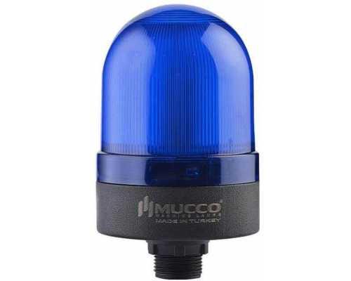 Сигнальный маячок с гайкой диаметром 22 мм, вращающийся с зуммером, 24V/DC, цвет Синий
