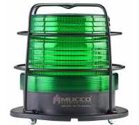 Универсальный сигнальный маячок, стробоскопический с 5 режимами и с защитной решеткой, 85-260VAC/DC, цвет зеленый