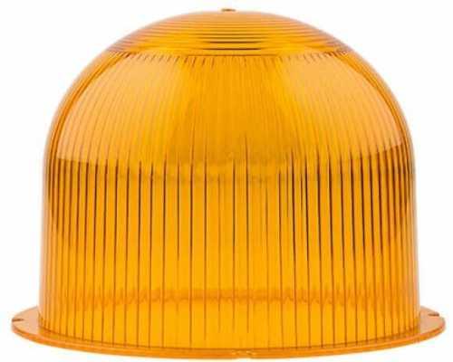 Линза диаметр 120 мм желтая