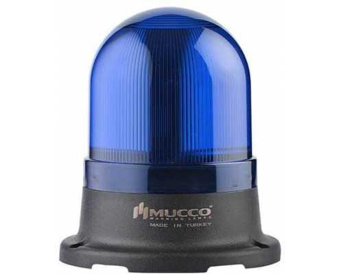 Мини сигнальный маячок, вращающийся с зуммером, 24V/DC, цвет Синий